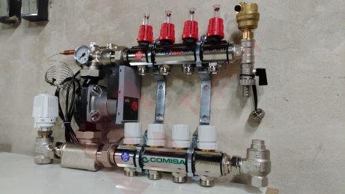 Rozdělovač s průtokoměry a čerpadlem 8 okruhů TOP 557A