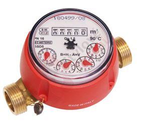 """vodoměr bytový 130 mm,teplá voda, pětimístný,mag.ochrana 3/4"""""""
