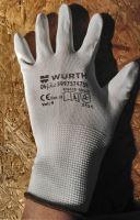 Polyuretanové ochranné rukavice komfort č. 10 - Würth