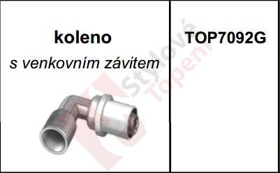 """AL pex Koleno s venkovním závitem 3/4""""x26 TOP 7092G"""