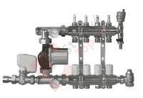 Rozdělovač s průtokoměry, čerpadlem a ekvitermní regulací 4 okruhy TOP 559A
