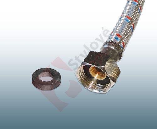 """Ploché těsnění 19x10.7x4 mm k připojovacím flexi hadičkám 1/2"""" - pryž - F2/3385"""