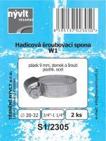 "SADA - 2 ks hadicové šroub. spony W1 - Ø 20 - 32 mm 3/4"" - S1/2305"