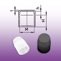 Krytka šroubu C - závit M = 12 mm; H = 14 mm; h = 5 mm - 40016/M12C - přírodní bílá
