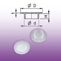 Krytka otvoru Ød = 10 mm; ØD = 20 mm; H = 4 mm - 40018/10 - přírodní bílá