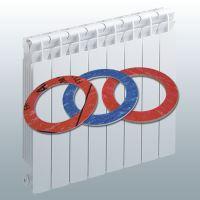 Ploché těsnění mezi články hliníkových radiátorů - bezazbest - 41.5 x 32.6 x 1.5 mm - CH2/138B