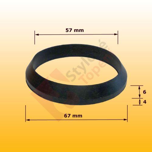 Kuželové těsnění 57x67mm do matice vanové sifonu 72x63 m  - starý typ SAM Myjava - I1/143A