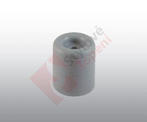 Doraz garážových vrat a bran; šedý 51 x 40 x 8 mm - K2/3650